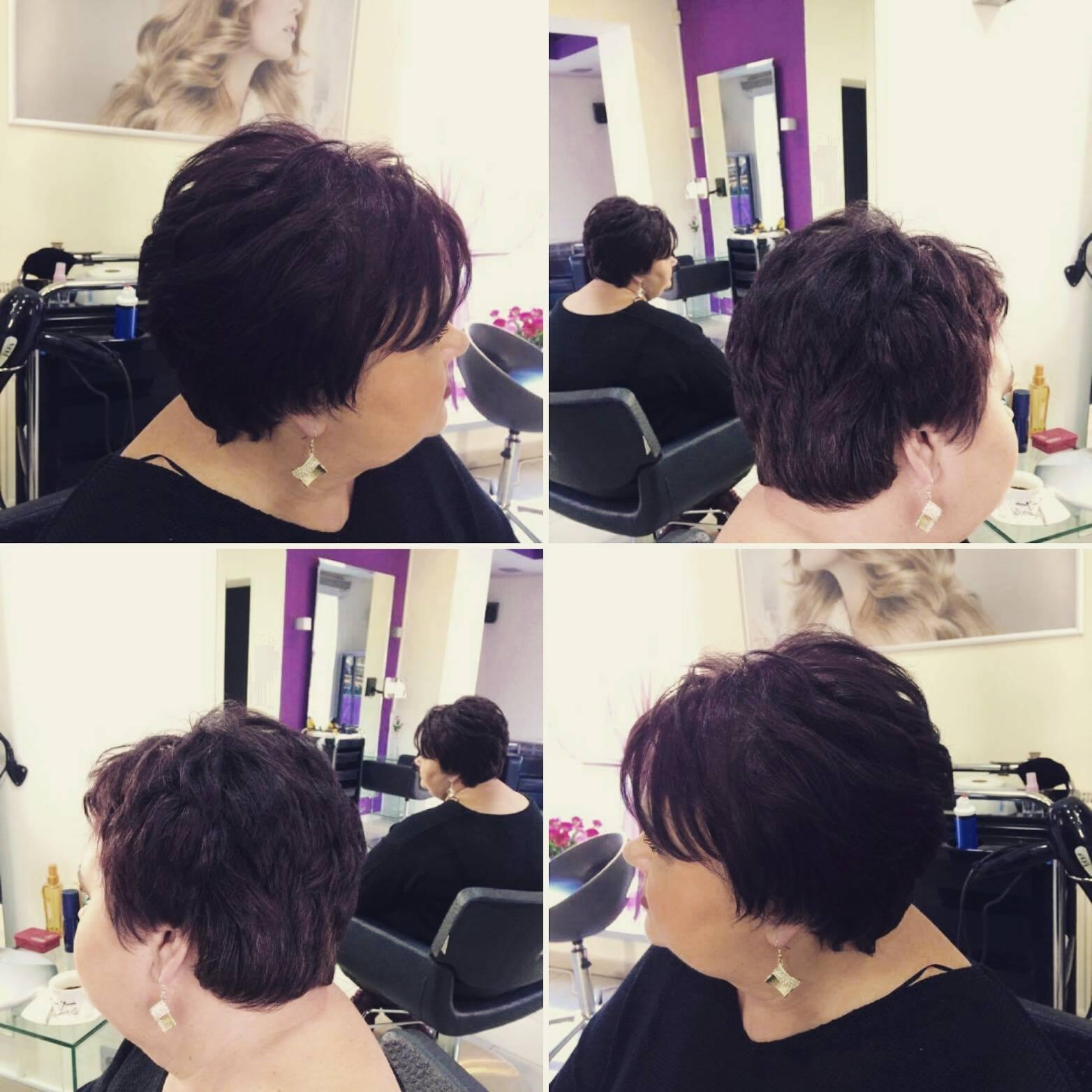 Modelowanie fryzury krótkiej