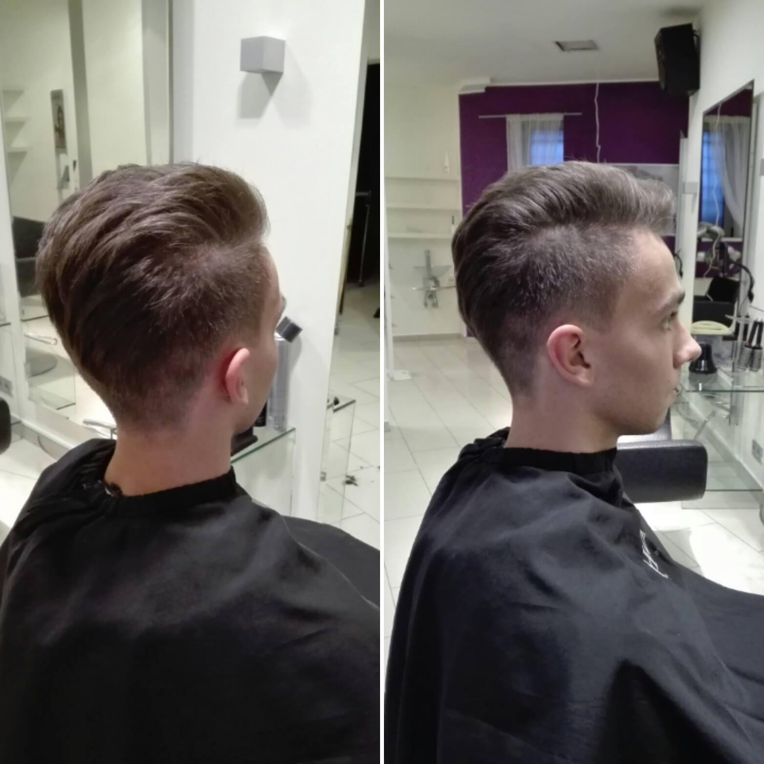 Fryzura Męska Z Przedziałkiem Salon Fryzjerski Biarritz