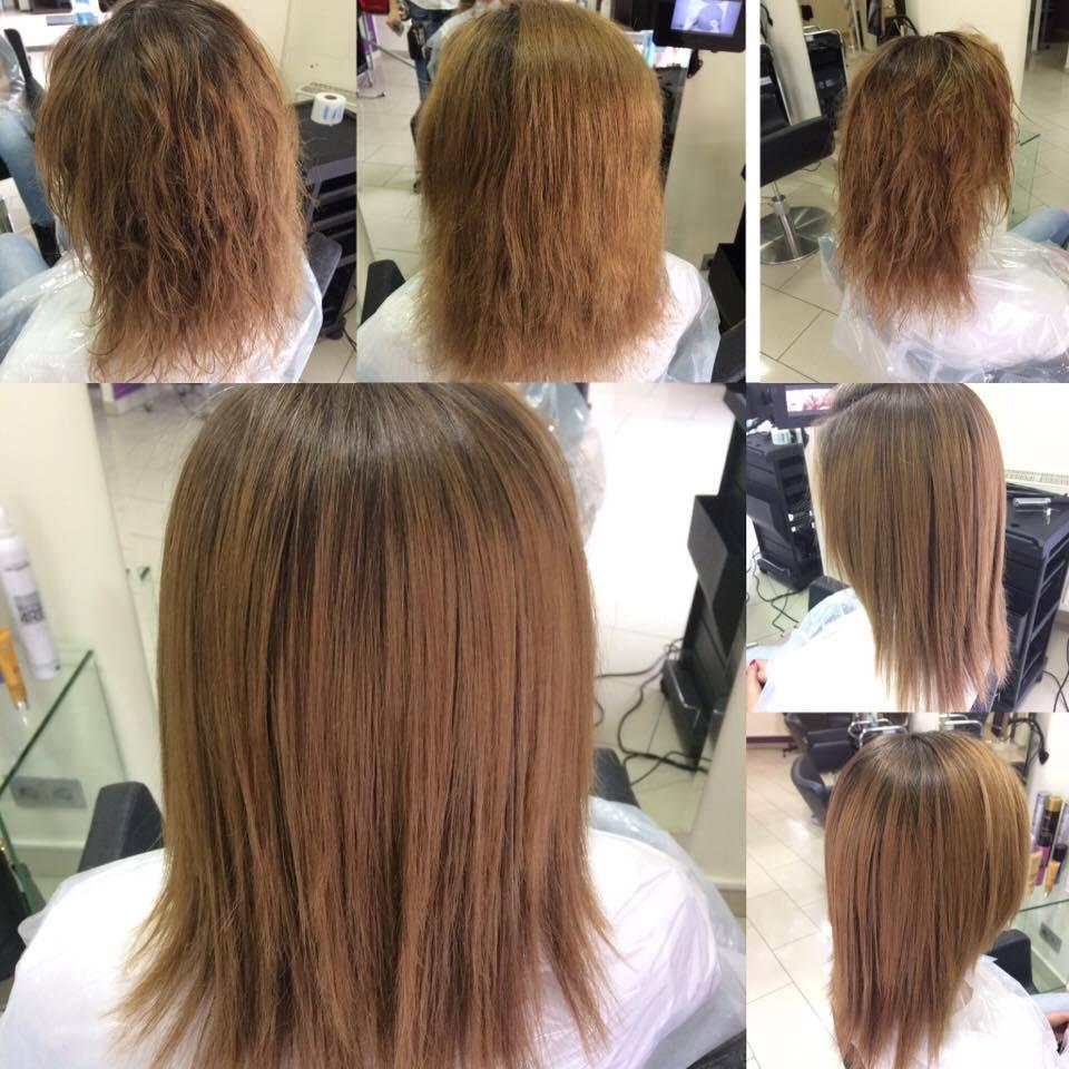 Chłodny Keratynowe prostowanie włosów - salon fryzjerski Biarritz - w Giwicach KW93